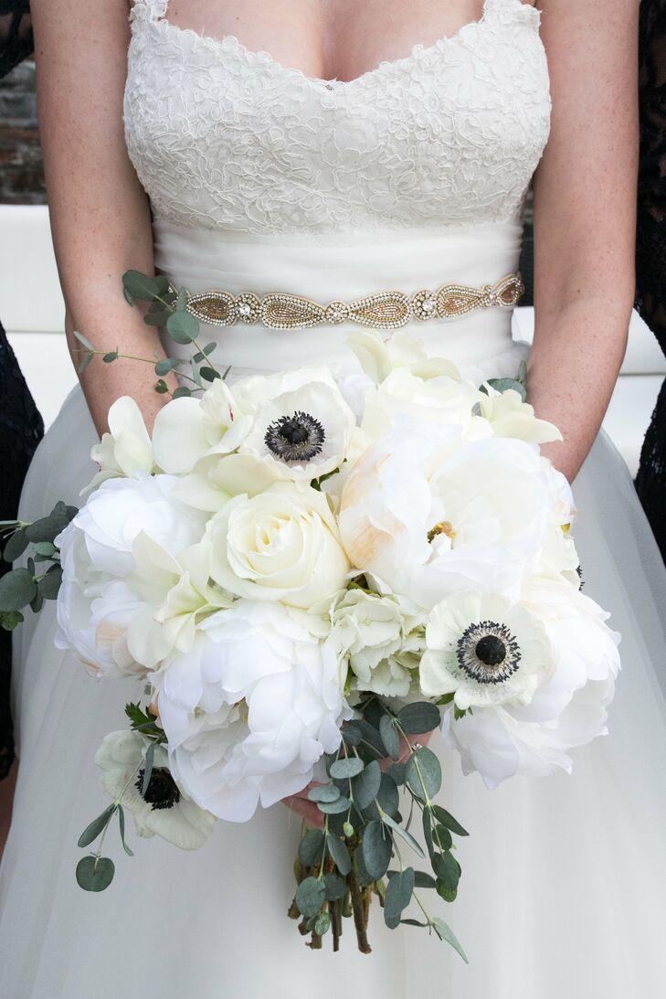 White Peony Anemone Bridal Bouquet