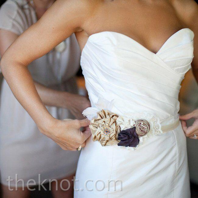Rolled Fabric Flower Belt