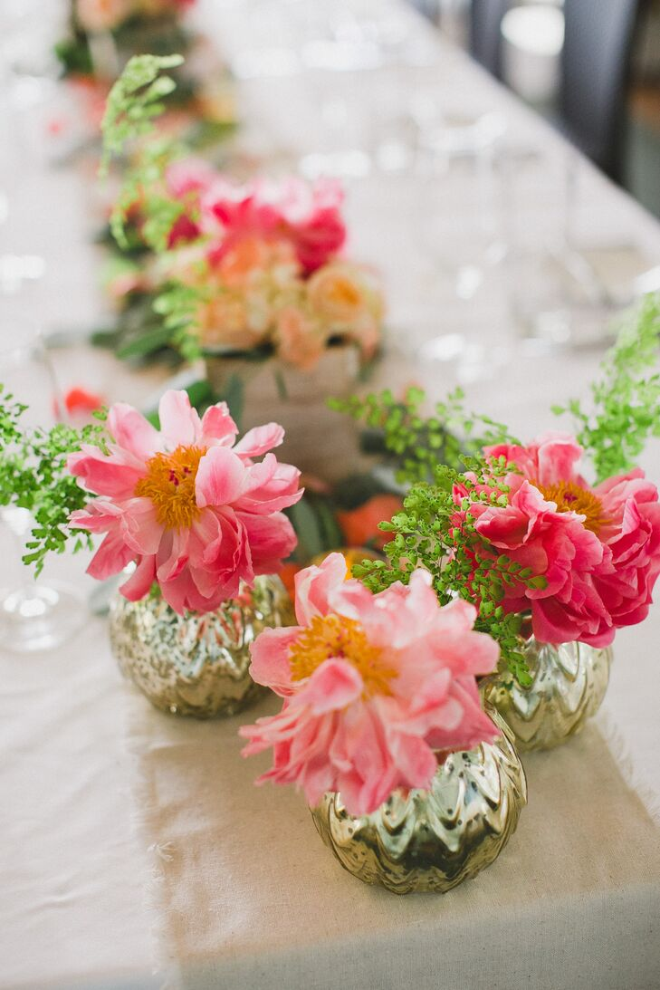 Single Pink Dahlia Centerpieces
