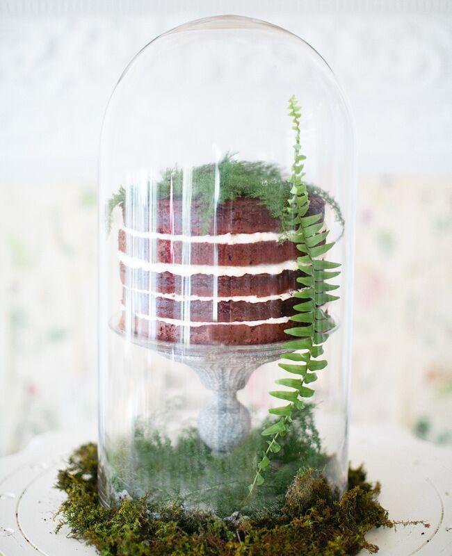 Fern Accented Wedding Cake