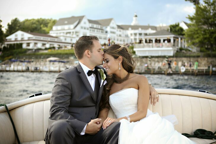 Stephanie and Joseph spent their wedding day with family and friends at the waterfront Sagamore Hotel in Lake George, NY. Classic calla lilies mixed w