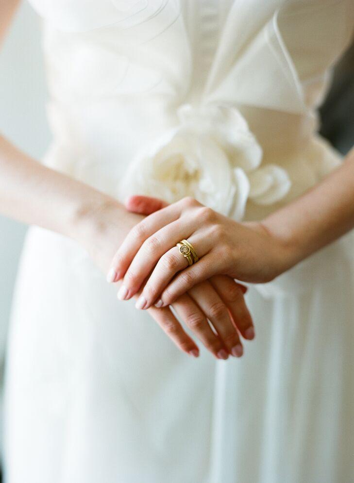 Gold Ancient-Inspired Custom Wedding Rings