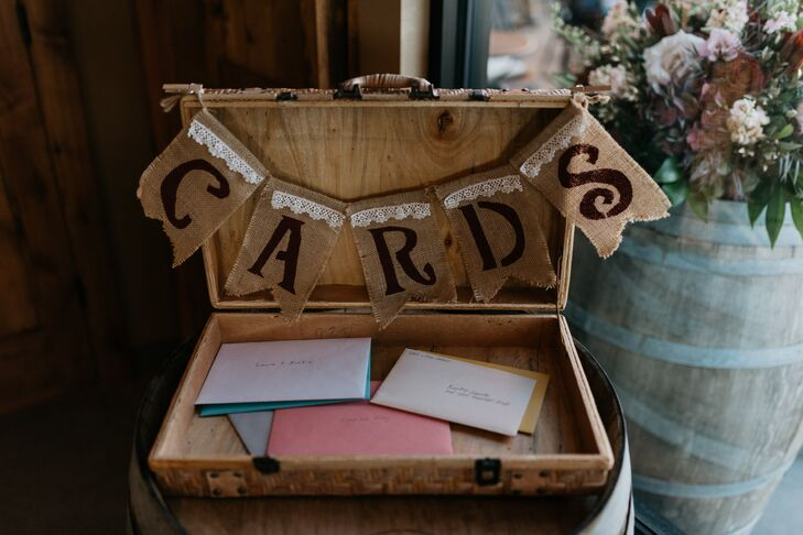 Rustic Card Chest with Burlap Garland