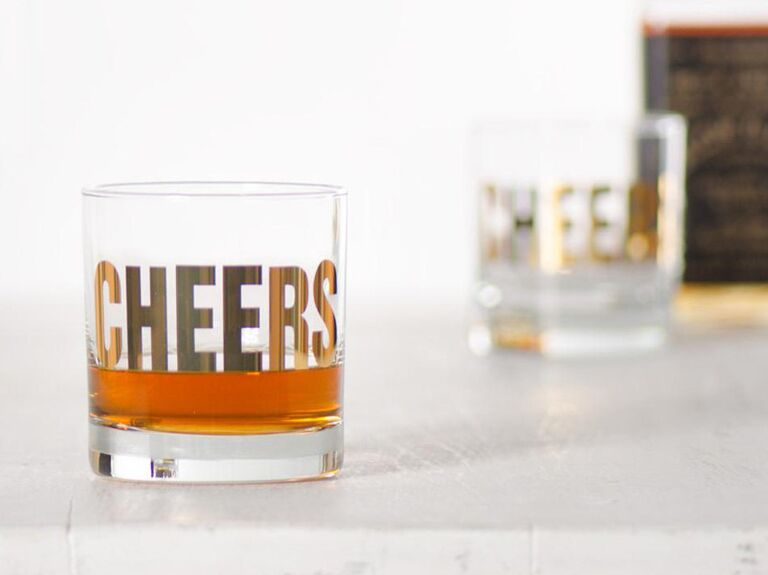 Cheers glasses 1 year anniversary gift for him