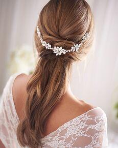 Dareth Colburn Blake Pearl & Crystal Hair Vine (TI-3374) Silver Headband