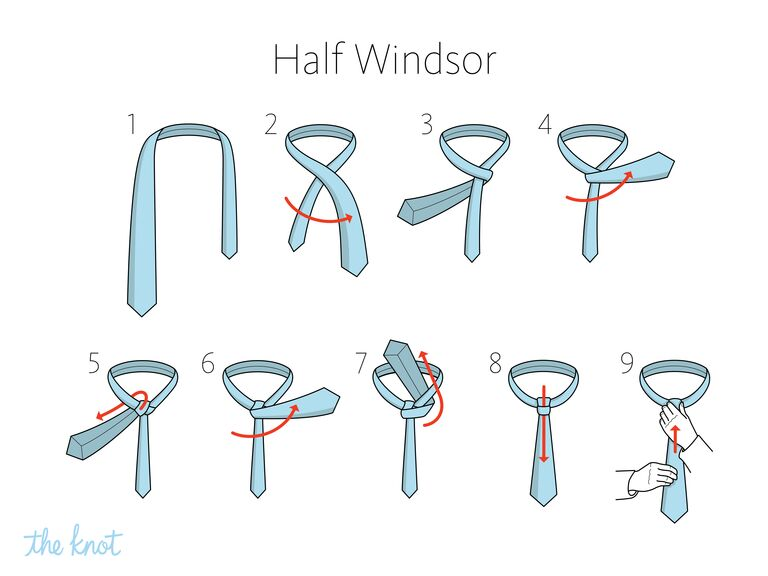 The Knot- How to tie a half windsor knot
