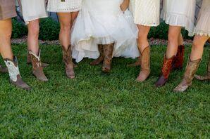 Cowboy Boot Bridesmaid Shoes