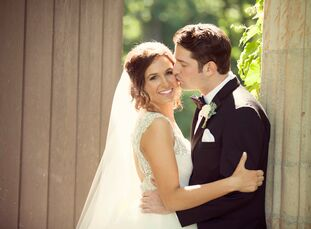 """World-traveling newlyweds Molly Schaffner and William Mattingly met in 2004 after the bride's family moved to Rochester Hills. """"We started out as frie"""