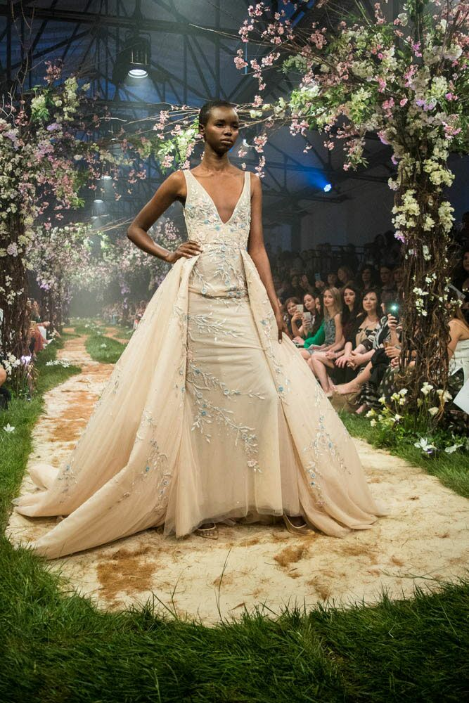 Paolo Sebastian Disney gowns plunging neckline