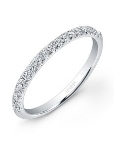 Uneek Fine Jewelry UWB02 White Gold Wedding Ring
