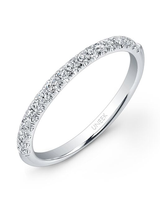Uneek Fine Jewelry UWB02 White Gold Wedding Ring