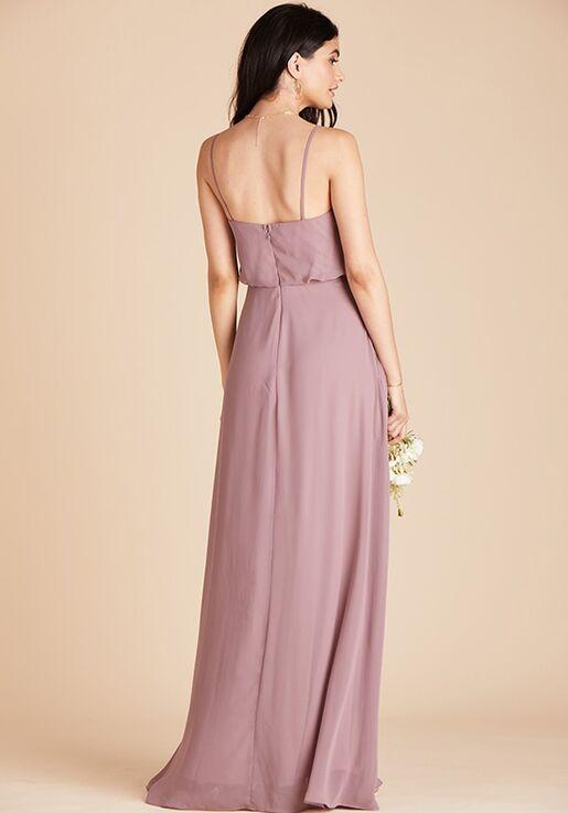 Birdy Grey Gwennie Bridesmaid Dress in Dark Mauve V-Neck Bridesmaid Dress