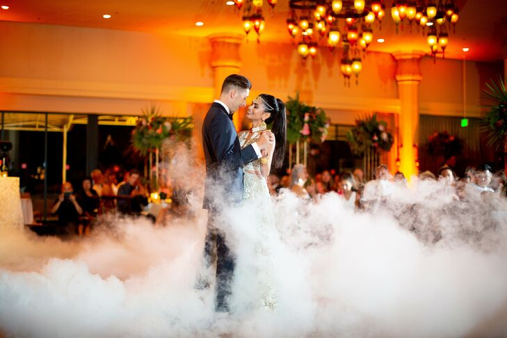 Couple Shares First Dance Surrounded by Dramatic Fog