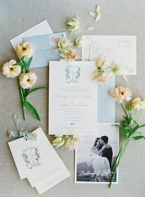 Romantic Paper Goods with Monogram and Calligraphy
