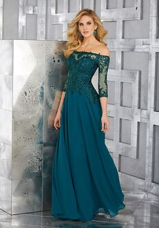 MGNY 71621 Green,Silver Mother Of The Bride Dress