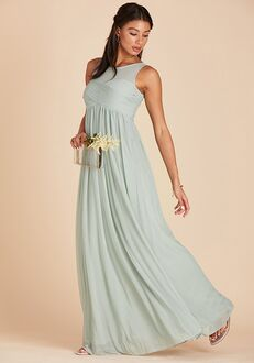 Birdy Grey Ryan Mesh Dress in Sage Illusion Bridesmaid Dress