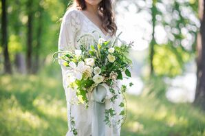 Cascading Ivy and Veronica Bouquet