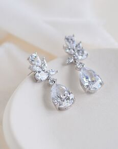 Dareth Colburn Madison CZ Dangle Earrings (JE-4161) Wedding Earring photo