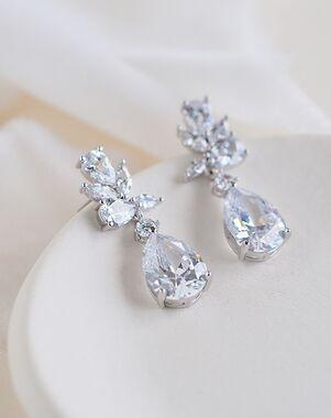 Dareth Colburn Madison CZ Dangle Earrings (JE-4161) Wedding Earring photo