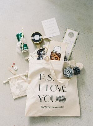 Personalized Canvas Welcome Kit Totes