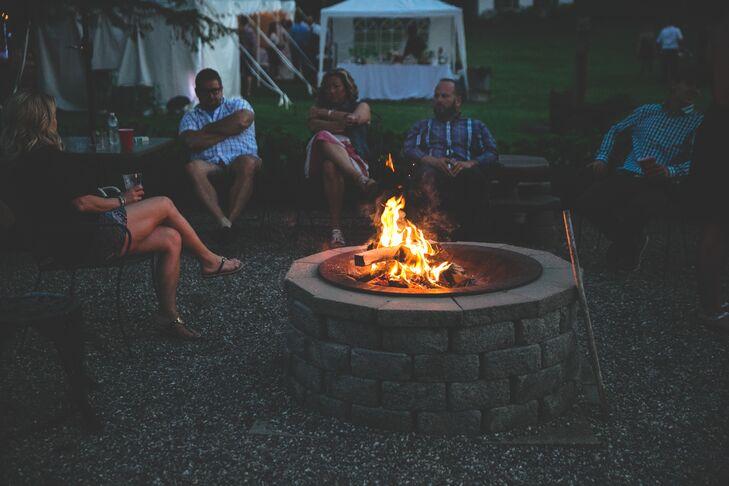 Greenwood Manor Inn Reception Bonfire