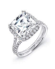 Uneek Fine Jewelry Unique Princess Cut Engagement Ring