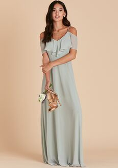 Birdy Grey Jane Convertible Dress in Sage V-Neck Bridesmaid Dress