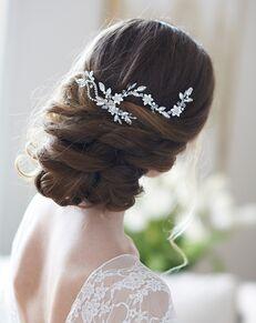 Dareth Colburn Allura Floral Hair Clip (TC-2407) Gold, Silver Pins, Combs + Clip