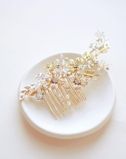 Dareth Colburn Jasmine Floral Comb (TC-2321) Gold, Silver Pins, Combs + Clip