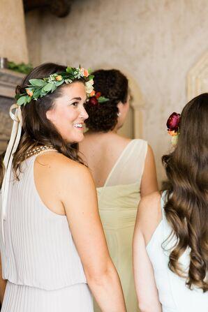 Crown of Bridesmaid Flowers
