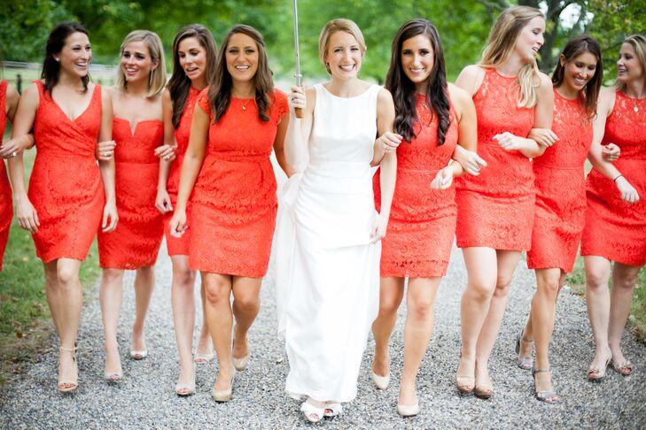 0917ef9d788 J.Crew Poppy Lace Bridesmaid Dresses