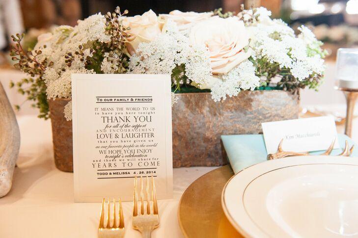 A host of fonts mixed together on the couple's thank you cards to all of their guests.