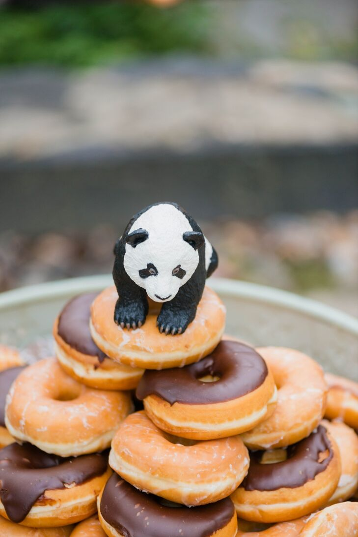 In addition to a delicious cake, guests also enjoyed doughnuts from the doughnut tower, topped with a cute panda topper.