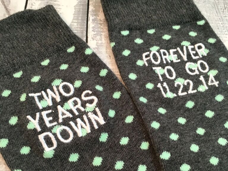 Custom socks cotton anniversary gifts for him