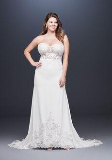David's Bridal Galina Signature Style 9SV830 Sheath Wedding Dress