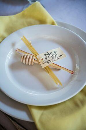 Honeycomb-Inspired Wooden Wedding Favor
