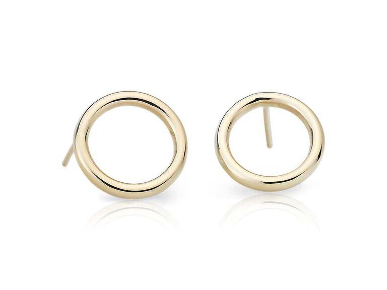 Circle stud earrings daughter-in-law gift