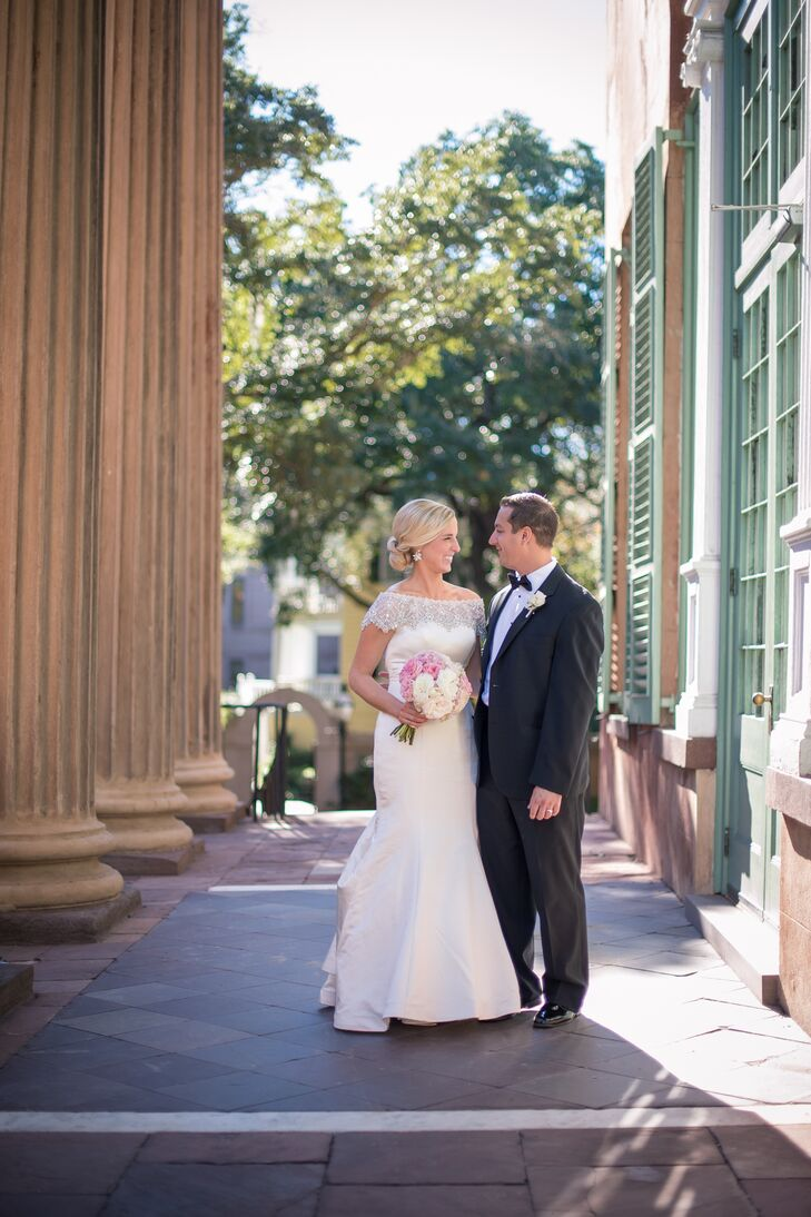 "Caitlin and Andrew got married in Charleston, South Carolina at St. John's Cathedral downtown followed by a reception at the Mill's House Hotel. ""My family has had a house in Charleston for the past ten years so it has become a second home,"" says Caitlin. ""I've always dreamed of having my wedding there and my dream wedding came true!"""