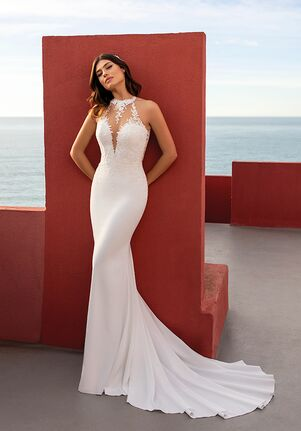 WHITE ONE ESSENTIALS GODETIA Mermaid Wedding Dress
