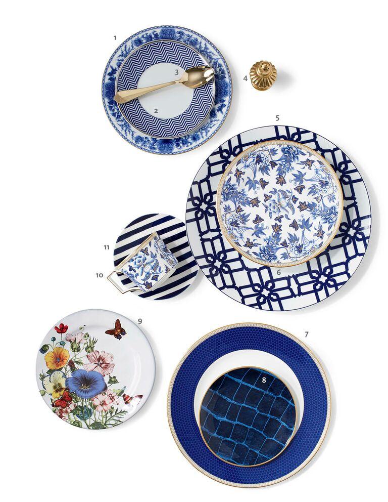 Blue mixed china