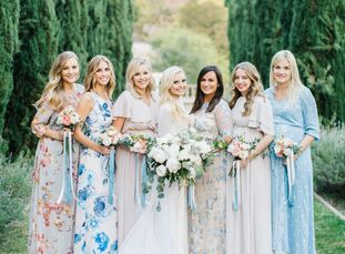 From the eucalyptus-laced florals to the custom-designed dresses, every detail of Kylee Dell and Ian Morgan's sophisticated fall soiree included perso