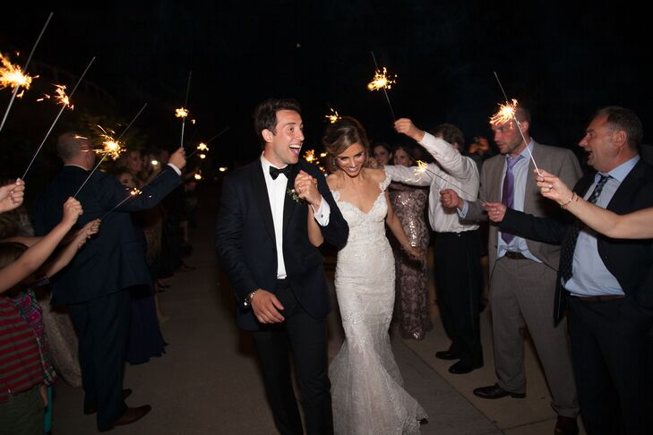 Couple's Exit with Sparklers