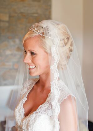 Veil and Crown Bridal Hairstyle