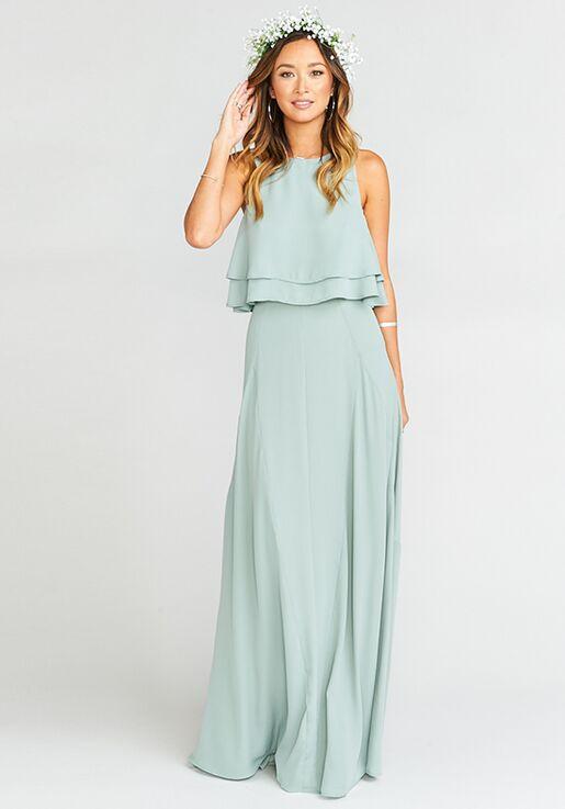 eb3e28cc5b7ef Show Me Your Mumu Princess Di Ballgown - Silver Sage Crisp Square Bridesmaid  Dress