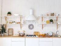 Trendy kitchen interior
