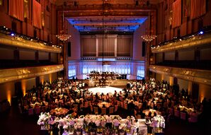 Luxurious Reception in Boston Symphony Hall