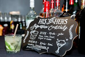 Signature Bride and Groom Cocktails