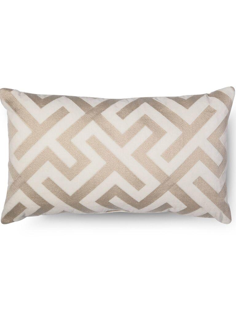 Oblong throw pillow registry gift