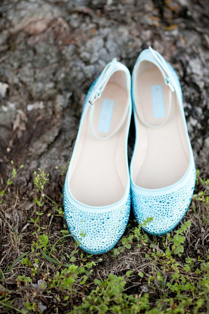 Light Blue Bridal Ballet Flats