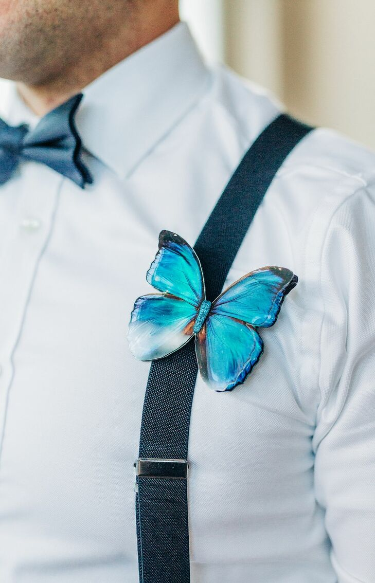 Butterfly Boutonniere for St. Louis, Missouri, Wedding
